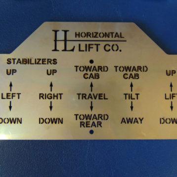 Laser Cut Hydraulic Control Plate (SC05)